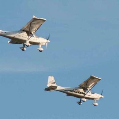 Formationsflug mit der C42